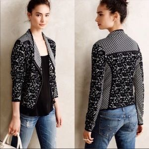 ANTHRO Moth Petite Crochet Moto Jacket
